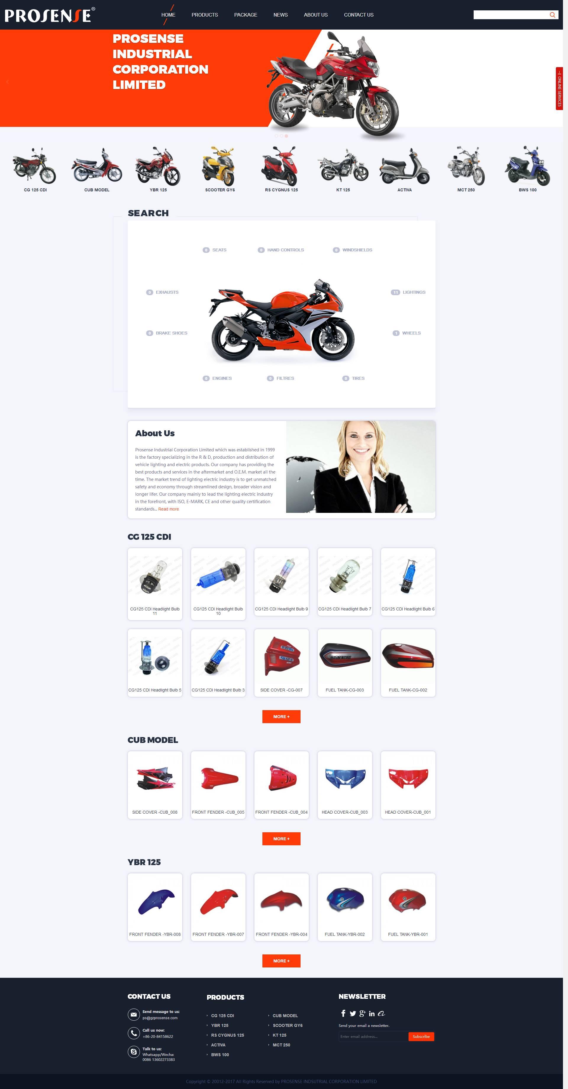 摩托车配件-gzprosense