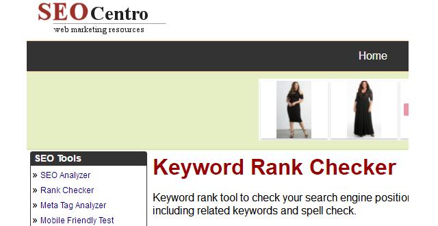 外贸网站关键词排名查询工具—SEO Centro