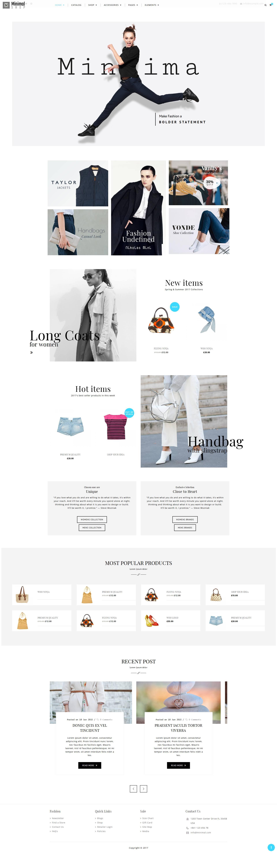 B2C外贸网站模板(商城型)